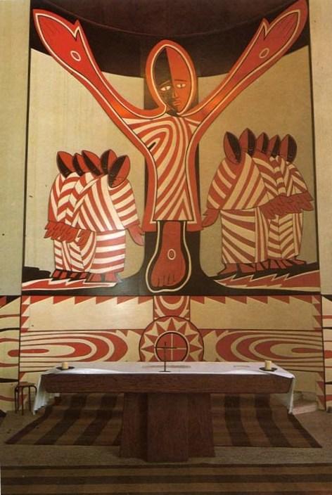 Mveng Uganda Martyrs Altar Libermann College Douala Cameroun