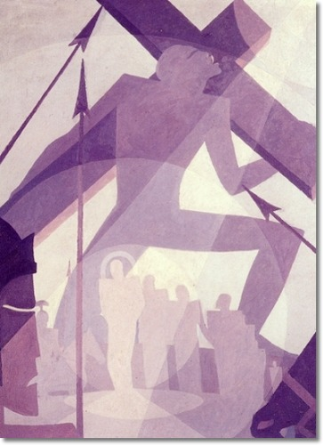 aaron-douglas-the-crucifixion-1927-48x36-inches-original-image-size-ethnic-african-american-art-painting-reproduction-print